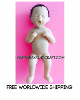Polymer baby mold, polymer baby, OOAK baby, polymer mould, fimo baby, sculpey baby, prosculpt baby, polymer clay baby, Free worldwide shipping.